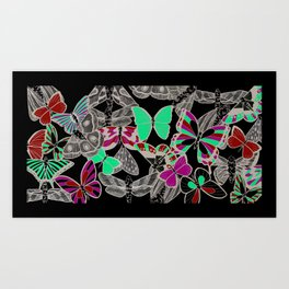 Pipettu - Moths and Butterflies (Spread 10 of 10) Art Print