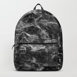 Enigmatic Black Marble #1 #decor #art #society6 Backpack