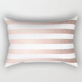 Simply Striped Moon Dust Bronze Rectangular Pillow