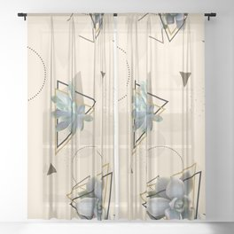 Pretty Succulents #society6 #decor #buyart Sheer Curtain