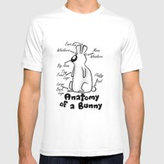 Anatomy of a Bunny MEDIUM Mens Fitted Tee White
