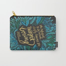 Zelda Fitzgerald – Blue on Black Carry-All Pouch