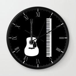 Guitar Piano Duo Wall Clock