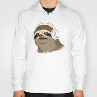 sloths Hoodies featuring What is a sloths favourite music? by laurxy
