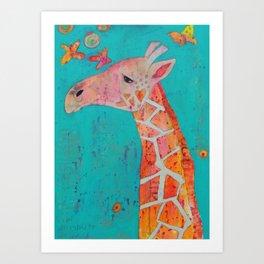 Giraffing Art Print