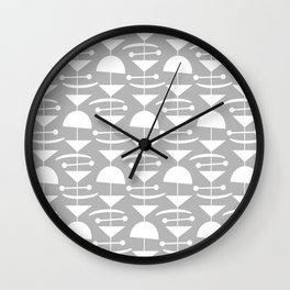Retro Mid Century Modern Abstract Mobile 654 Gray Wall Clock