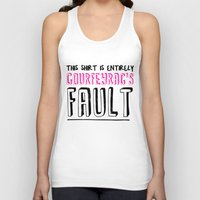 fault Tank Tops featuring courfeyrac's fault by Gender Monster