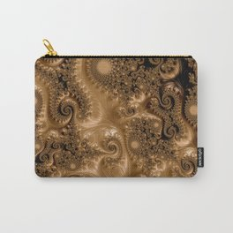Copper Leaves-Sepia Carry-All Pouch