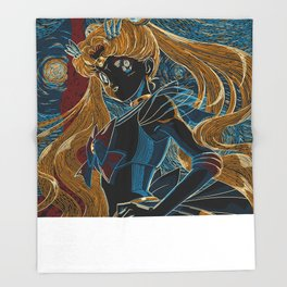Usagi and the Starry Night Throw Blanket