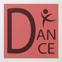 Red Dance Symbol Canvas Print