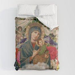 Saints Collection -- Madonna And Child Duvet Cover
