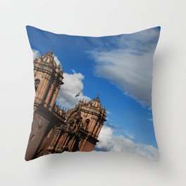 Catedral Cusco Throw Pillow