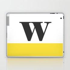 Monogram Letter W-Pantone-Buttercup Laptop & iPad Skin