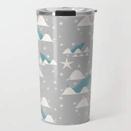 narwhal in ocean grey Travel Mug