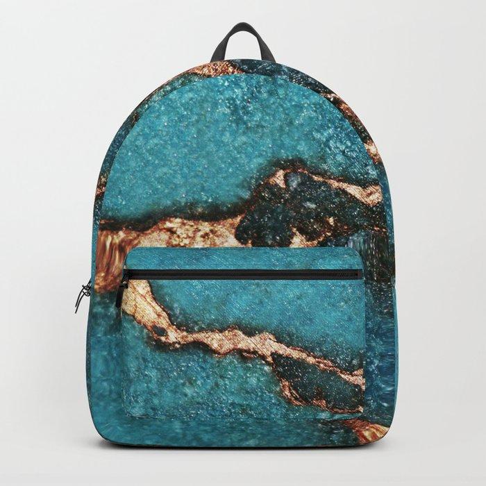 AQUA & GOLD GEMSTONE Backpack