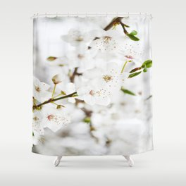 White blooming Shower Curtain