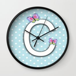 Baby Nursery Decor ,  Girl Room DEcorating Ideas, Letter for Wall, Pregnancy Decor, Baby Shower Gift Wall Clock