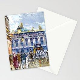 Avenue de l'Opera, Paris, France Landscape by Antone Blanchard Stationery Cards