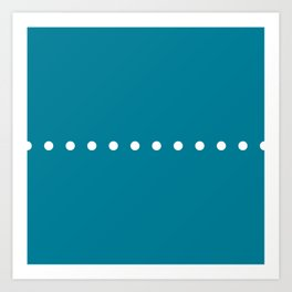 Dots Blue Art Print