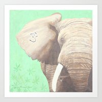 om Art Prints featuring OM... by Ninamelusina