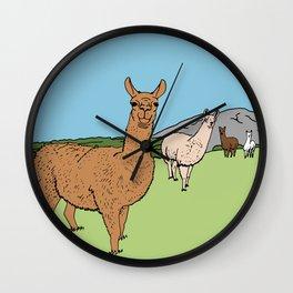 Llama-rama Wall Clock