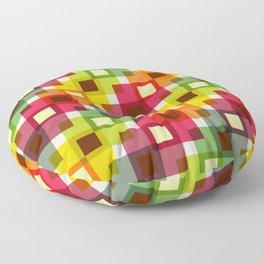 Geometric Pattern 227 (color squares) Floor Pillow