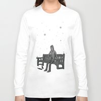whisky Long Sleeve T-shirts featuring snow & whisky by ASIMON