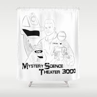 theater Shower Curtains featuring Mystery Science Theater 3000 by Carrie Ann Schumacher