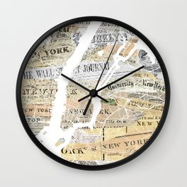 New York map Wall Clock