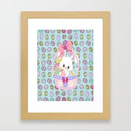 Easter Bunny Easter Basket Framed Art Print