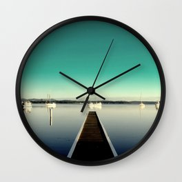 aqua jetty Wall Clock