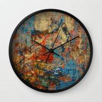 calendars Wall Clocks featuring Mannaz - Runes Series by Fernando Vieira