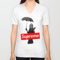 supreme V-neck T-shirts featuring The Supreme by Dandy