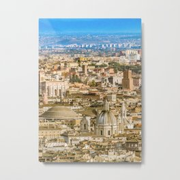 Rome Aerial View From Saint Peter Basilica Viewpoint Metal Print