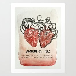 Amour (n, m.) Art Print