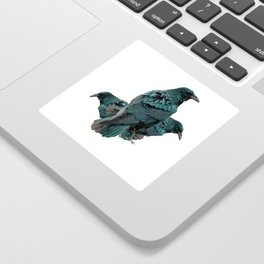THREE CROWS/RAVENS  SOCIALIZING FROM SOCIETY6 Sticker
