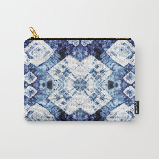 Blue Silk Tie-Dye Carry-All Pouch