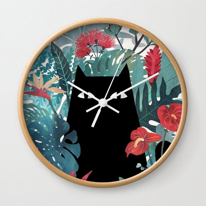 Popoki Wall Clock