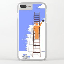 blue glance Clear iPhone Case