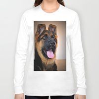puppy Long Sleeve T-shirts featuring puppy by  Agostino Lo Coco