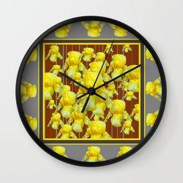 """FOR LOVE OF YELLOW IRIS"" Wall Clock"