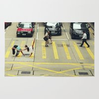 musa Area & Throw Rugs featuring Dancers Stopping Traffic by Musa Do Verao - Camilla Warburton