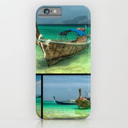 Wooden Thai Longboats iPhone Case