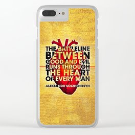 The Battleline Clear iPhone Case