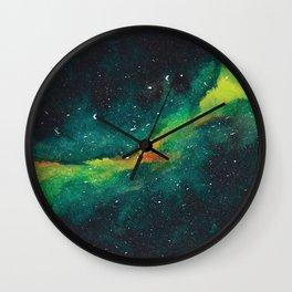 WATERCOLOR GALAXY Wall Clock