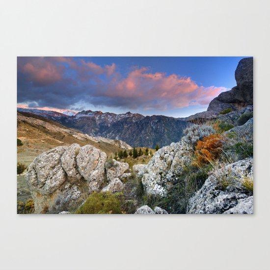 """Mountain Light"". Sunset at the Alayos. Canvas Print"