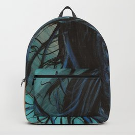 My Mermaid. Original Painting by Jodilynpaintings. Figurative Abstract Pop Art. Backpack