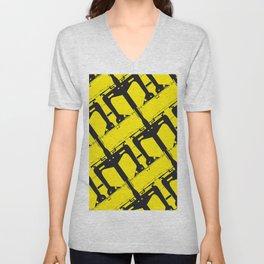 Yellow Maquinita Unisex V-Neck