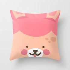Bunny Smile Throw Pillow