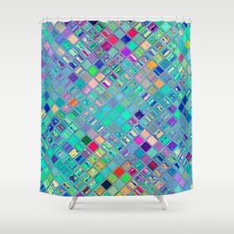 Re-Created  Mosaic No. FOURTEEN by Robert S. Lee Shower Curtain